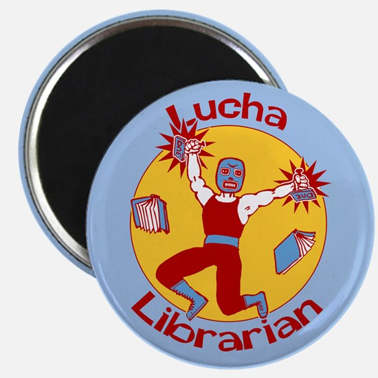 Lucha Librarian Magnet