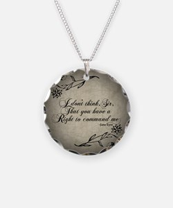 Jane Eyre No Right To Command Me Necklace Circle C