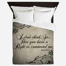 Jane Eyre No Right To Command Me Queen Duvet