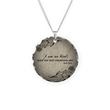 No Net Ensnares Me Necklace Circle Charm