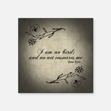 "No Net Ensnares Me Square Sticker 3"" x 3"""
