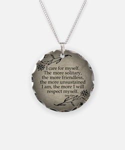 Jane Eyre Care For Myself Necklace Circle Charm