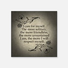 """Jane Eyre Care For Myself Square Sticker 3"""" x 3"""""""