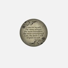 Jane Eyre Care For Myself Mini Button