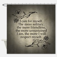 Jane Eyre Care For Myself Shower Curtain