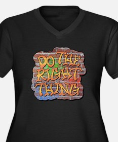 Do the Right Thing Women's Plus Size V-Neck Dark T