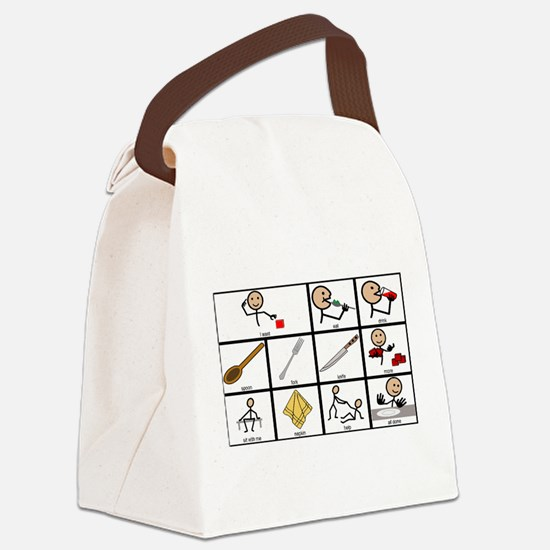 Lunch Time Communication Board Canvas Lunch Bag