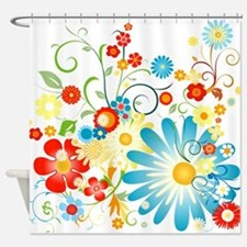 Multi Floral designer pattern Shower Curtain