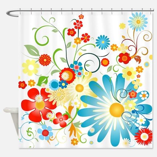 Multi Floral designer pattern Shower Curtain