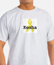 Yellow Ribbon: Kesha Ash Grey T-Shirt