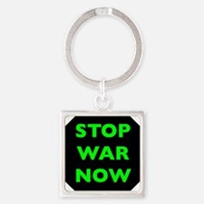 Stop War Now e9 Square Keychain