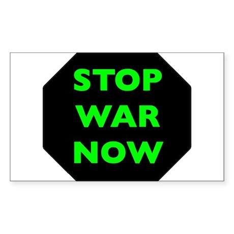 Stop War Now e9 Sticker (Rectangle)