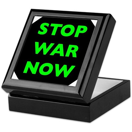 Stop War Now e9 Keepsake Box