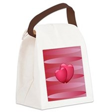 Cute lover hearts valentine Canvas Lunch Bag