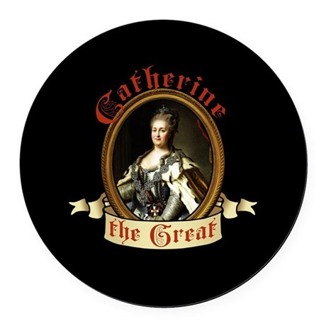 Catherine The Great Round Car Magnet