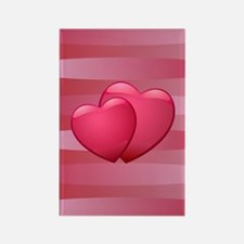 Cute lover hearts valentine Rectangle Magnet