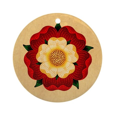 Tudor Rose Ornament (Round)