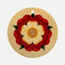 Tudor Rose Ornament (Round)