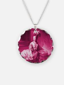 Marie Antoinette Pink Portrait Necklace