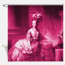 Marie Antoinette Pink Portrait Shower Curtain