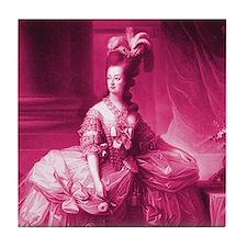 Marie Antoinette Pink Portrait Tile Coaster