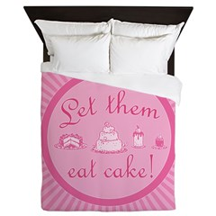 Sweet Pink Let Them Eat Cake Queen Duvet