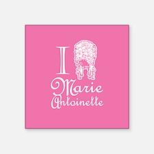 I Love (Wig) Marie Antoinette Pink Square Sticker