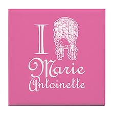 I Love (Wig) Marie Antoinette Pink Tile Coaster