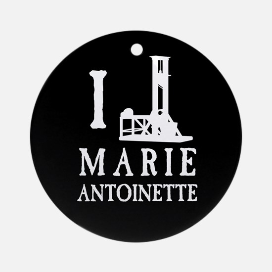 I Love (Guillotine) Marie Antoinette Ornament (Rou