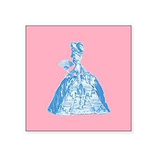 "18th Century Lady Blue Square Sticker 3"" x 3"""