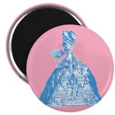 18th Century Lady Blue Magnet