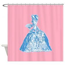 18th Century Lady Blue Shower Curtain