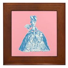 18th Century Lady Blue Framed Tile