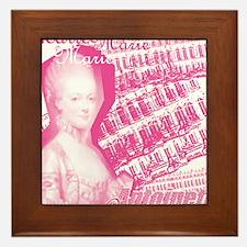 Pink Marie Antoinette Collage Framed Tile