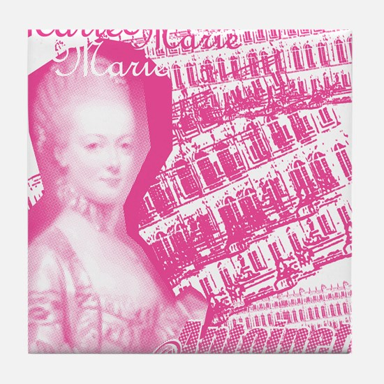 Pink Marie Antoinette Collage Tile Coaster