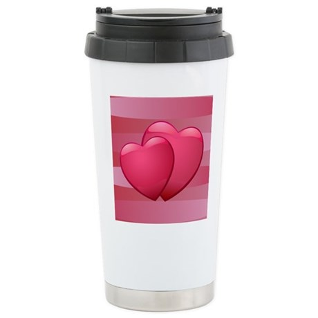 Cute lover hearts valentine Stainless Steel Travel