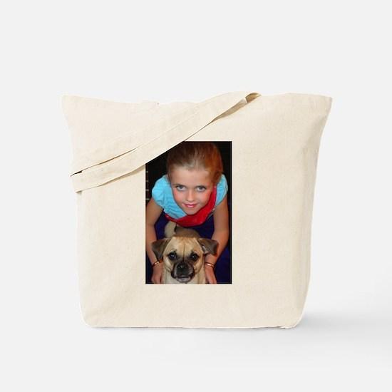 Girl and her Chug Tote Bag