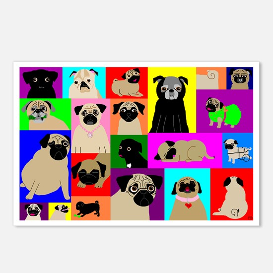Lots o Pugs Postcards (Package of 8)