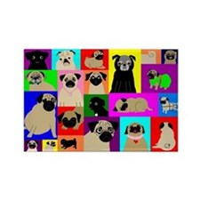 Lots o Pugs Rectangle Magnet (10 pack)