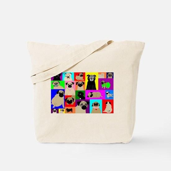 Lots o Pugs Tote Bag