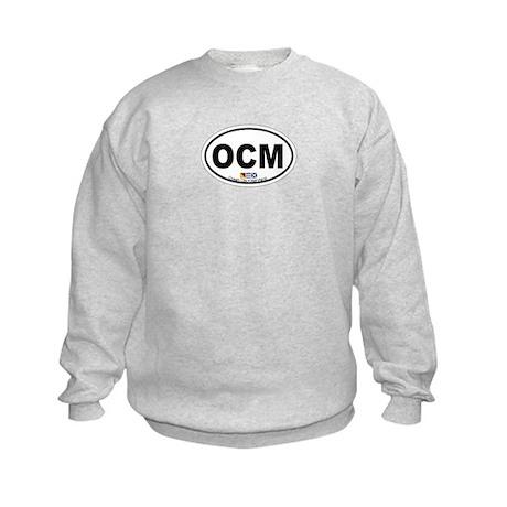Ocean City MD - Oval Design. Kids Sweatshirt