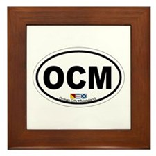 Ocean City MD - Oval Design. Framed Tile