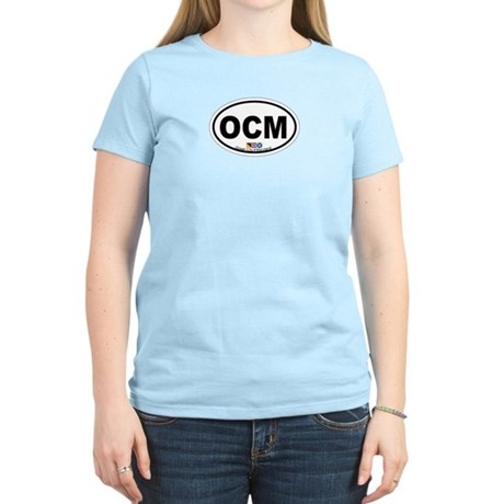 Ocean City MD - Oval Design. Women's Light T-Shirt