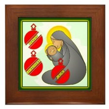 Happy Birthday Jesus Framed Tile
