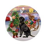 Treat for a black Labrador Ornament (Round)