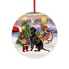 Treat for a black Labrador Ornament (Round)