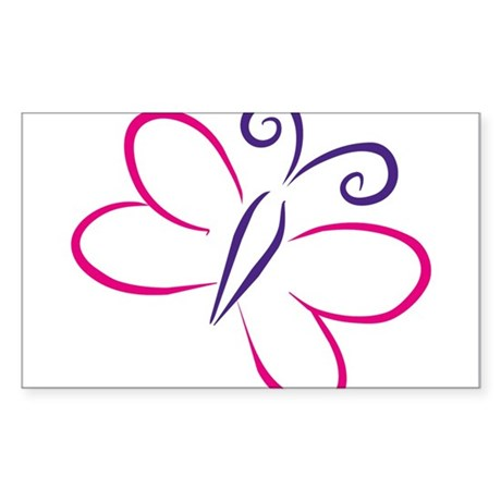 butterfly Sticker (Rectangle)
