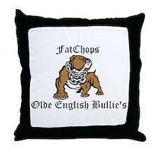 Olde English Bulldogge's Throw Pillow