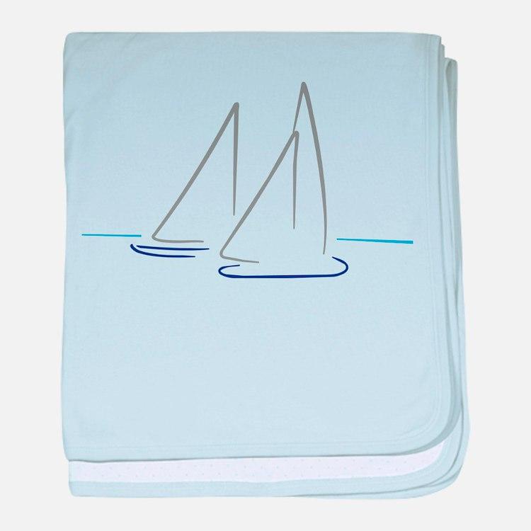 sailing baby blanket