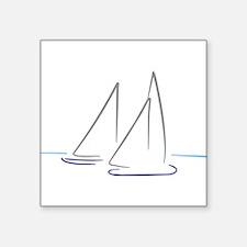 "sailing Square Sticker 3"" x 3"""